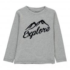 T-Shirt Explore Gris chiné clair