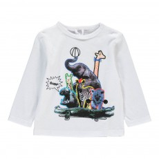 T-shirt Animaux Cirque Georgie Blanc
