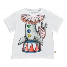 T-shirt Otarie Cirque Chuckle Blanc
