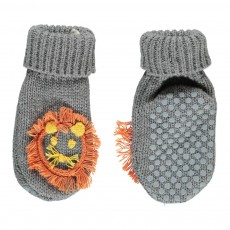 Chaussons Lion Flopsy Gris