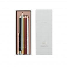 Set de 6 crayons à papier assortis Blanc