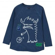 T-shirt Monstre Ballon Max Bleu marine