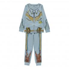 Pyjama Cow Boy Louie Bleu ciel