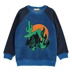 Sweat Désert Cactus Whip Bleu marine