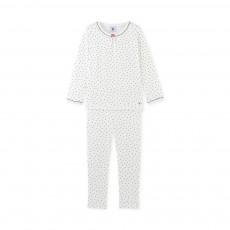 Pyjama 2 Pièces Cœurs Dedans Bleu marine