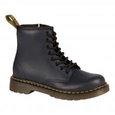 Boots Cuir Zippées Delaney Bleu marine