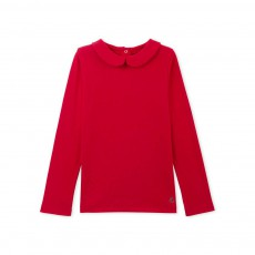 Blouse Col Claudine Rouge