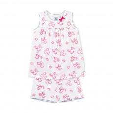 Pyjama Débardeur et Short Fleurs Rose