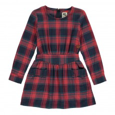 Robe Carreaux Jane Rouge