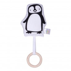 Hochet et anneau de dentition Pingouin Blanc