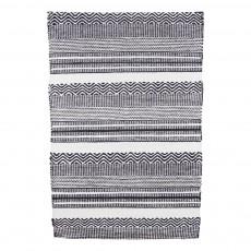 Tapis Inka noir et blanc Noir