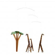 Mobile girafes dans la savane Multicolore