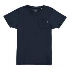 T-shirt Poche Bleu marine