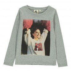 T-Shirt Pom-pom Girl Gris chiné clair