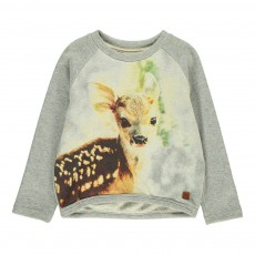 Sweat Bambi Gris chiné clair