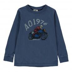 T-Shirt Moto Bleu indigo
