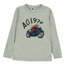 T-Shirt Moto Gris chiné clair