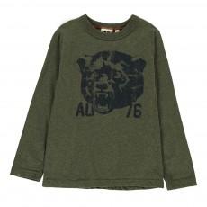 T-Shirt Tête Ours Vert kaki