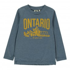 "T-Shirt ""Ontario"" Bleu chiné"