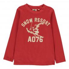 T-Shirt Skieur Rouge