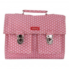 Cartable Mini Bretelles Canvas Chiné Rose