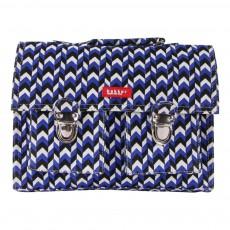 Cartable Mini Bretelles Canvas Knit Bleu