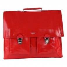 Cartable Bretelles Grande Classe Vinyle Rouge