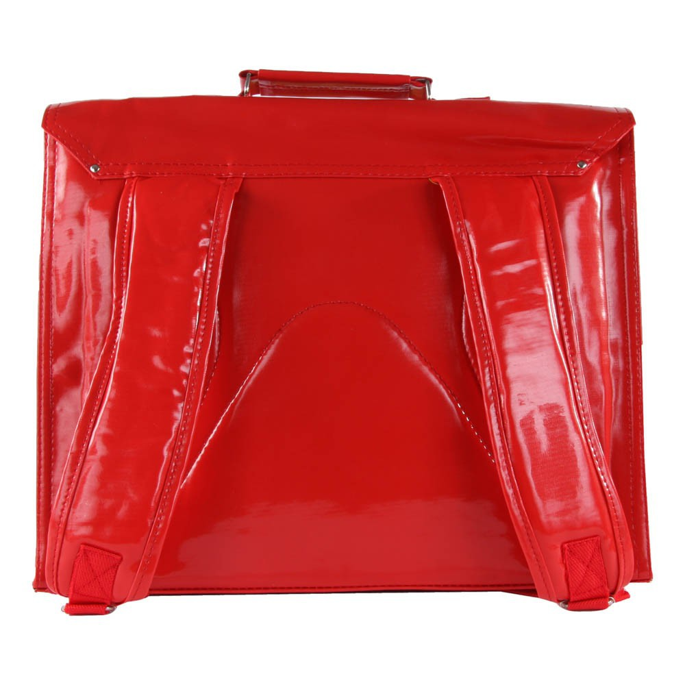 Cartable bretelles grande classe vinyle rouge bakker made - Bakker made with love cartable ...
