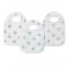Bavoirs étoiles pastel - Pack de 3 Multicolore