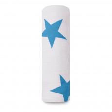 Lange-plaid 120x120 cm étoiles Bleu