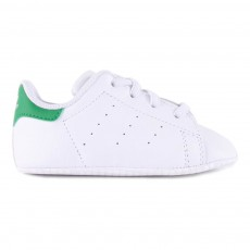 Chaussons Lacets Stan Smith Crib Blanc