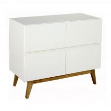 Commode 4 tiroirs Trendy Blanc