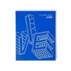Carnet à colorier - Letters Bleu