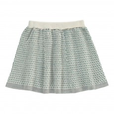 Jupe Laine Triangles Gris clair
