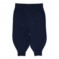 Pantalon Laine Bleu marine
