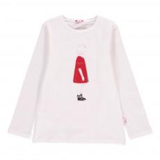 T-Shirt Fillette Robe Rouge
