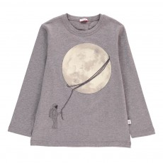 T-Shirt Lune Phosphorescente Gris chiné