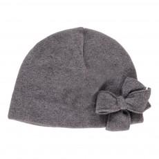 Bonnet Nœud Gris