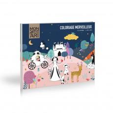 Coloriage merveilleux 12 contes Multicolore