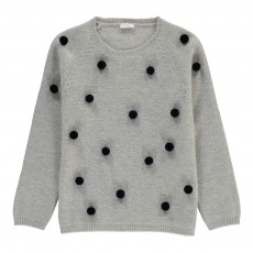 Pull Pompons Gris