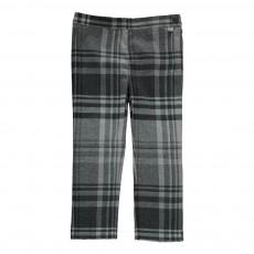 Pantalon Carreaux Gris