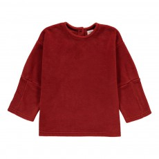 Sweat Col Rond Rouge vermillon