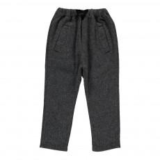 Pantalon Laine Chiné Gris anthracite