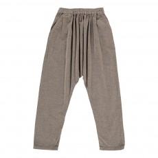 Pantalon Sarouel Velours Beige