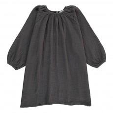 Robe Crêpe de Coton Gris anthracite