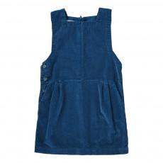 Robe Chasuble Velours Beryl Bleu