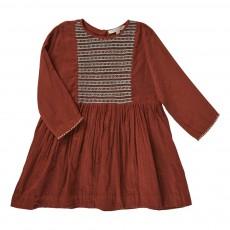 Robe Brodée Malachite Rouge brique