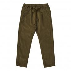 Pantalon Velours Carnelian Vert kaki
