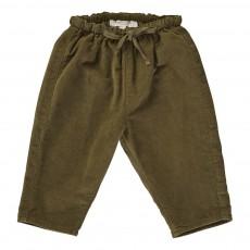 Pantalon Velours Carnelian Bébé Vert kaki