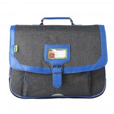 Cartable Classic 38 cm Gris Chiné Bleu